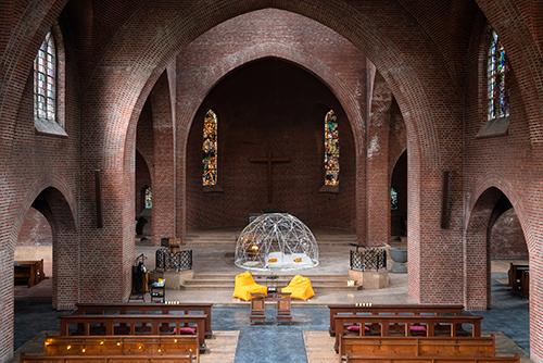 Slapen in de Maria Boodschapkerk